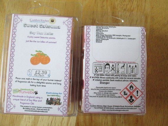 Sweet Satsuma Scented Soy Wax Melts Pack