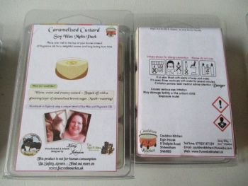 Caramelised Custard Scented Soy Wax Melts Pack