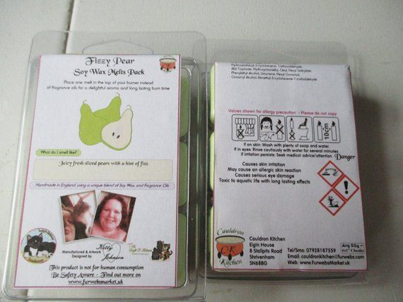 Fizzy Pear Scented Soy Wax Melts Pack