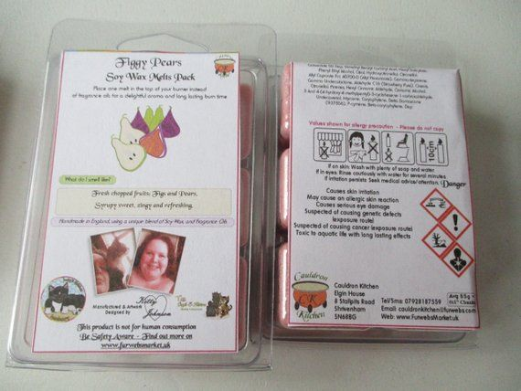 Figgy Pears Scented Soy Wax Melts Pack