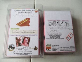 Devils Red Cream Cake Scented Soy Wax Melts Pack