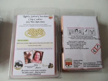 Lightly Salted Chocolate Chip Cookies Scented Soy Wax Melts Pack