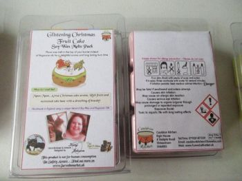 Glistening Christmas Fruit Cake Scented Soy Wax Melts Pack