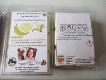 Smooth Banana Puree Scented Soy Wax Melts Pack
