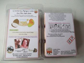 Coconut & Mango Cooler Scented Soy Wax Melts Pack