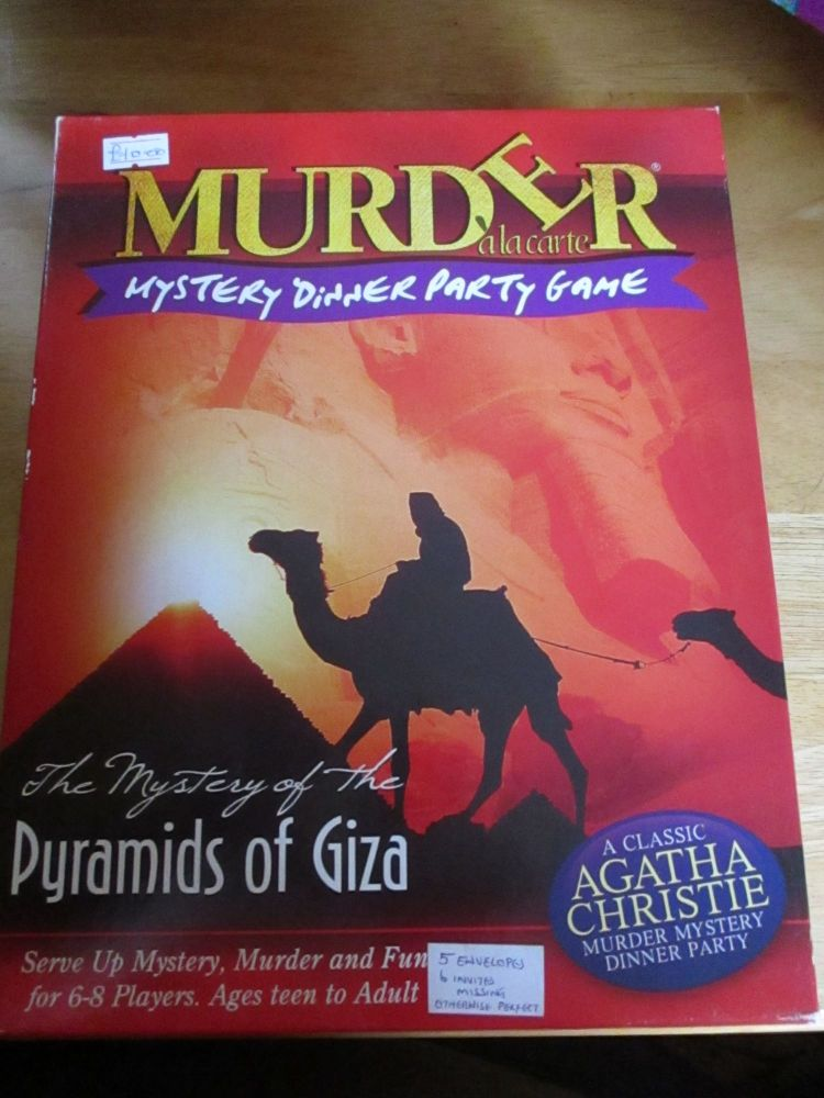 Murder Alacarte - The Mystery Of The Pyramids Of Giza (some envelopes & inv