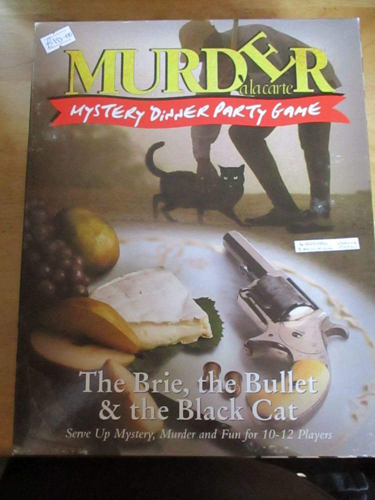 Murder Alacarte - The Brie, The Bullet & The Black Cat (some envelopes & in