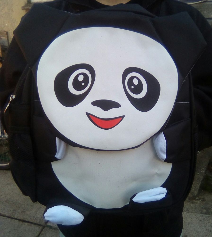 Panda - Animal Design Backpack - 10kg Max Hold. 2 Compartments. 2 Side Pockets.