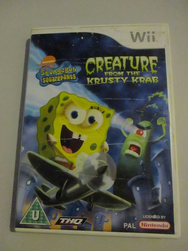 Spongebob Square Pants - Creature From The Krusty Krab - Nintendo Wii Game