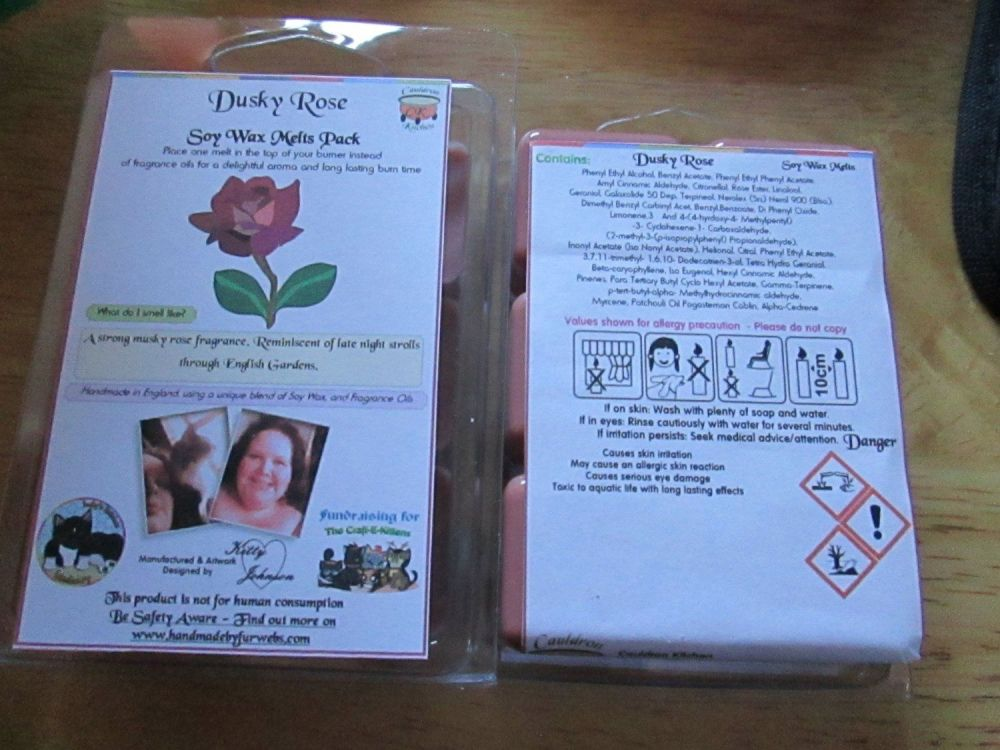 Dusky Rose Scented Soy Wax Melts Pack