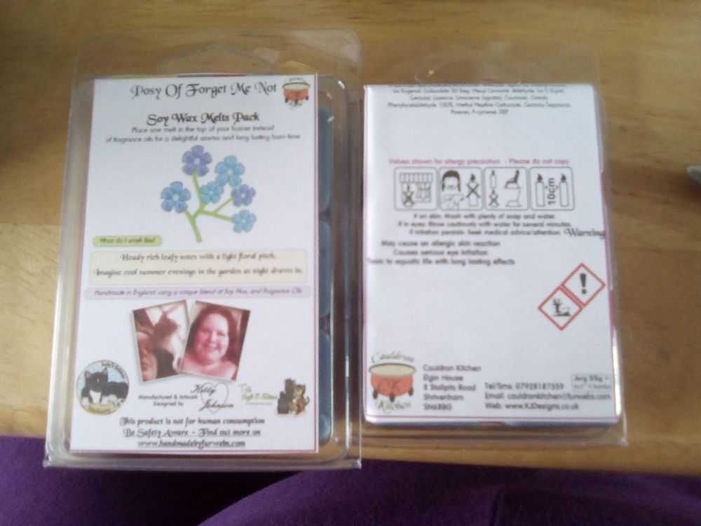 Posy Of Forget Me Not Scented Soy Wax Melts Pack