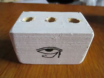Eye Of Horus & Ankh Symbol 3 Hole White Stationery Block