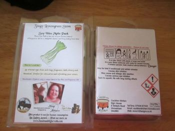 Zingy Lemongrass Stem Scented Soy Wax Melts Pack