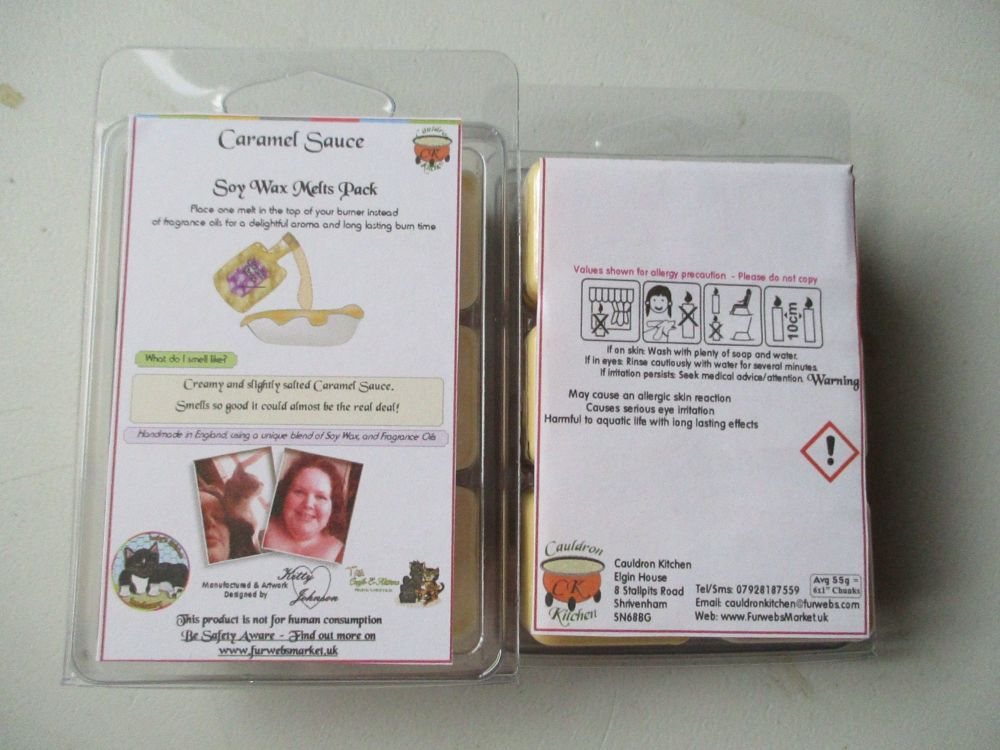 Caramel Sauce Scented Soy Wax Melts Pack
