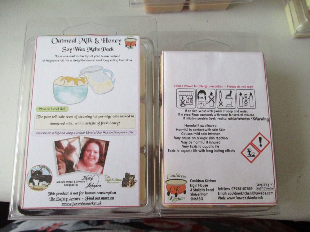 Oatmeal Milk & Honey Scented Soy Wax Melts Pack