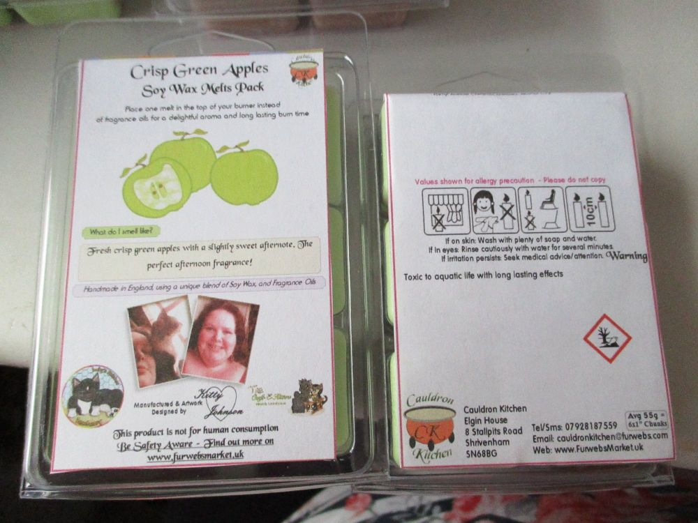 Crisp Green Apples Scented Soy Wax Melts Pack