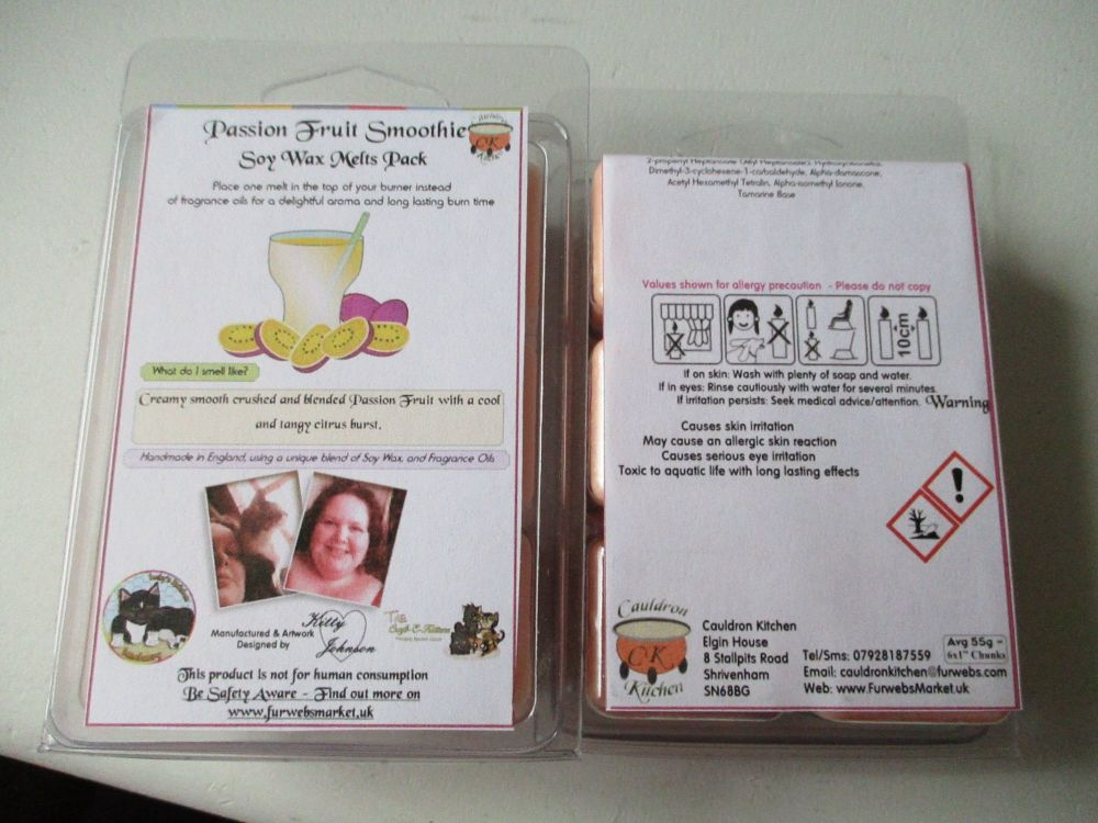 Passion Fruit Smoothie Scented Soy Wax Melts Pack
