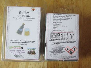 Bay Rum Scented Soy Wax Melts Pack
