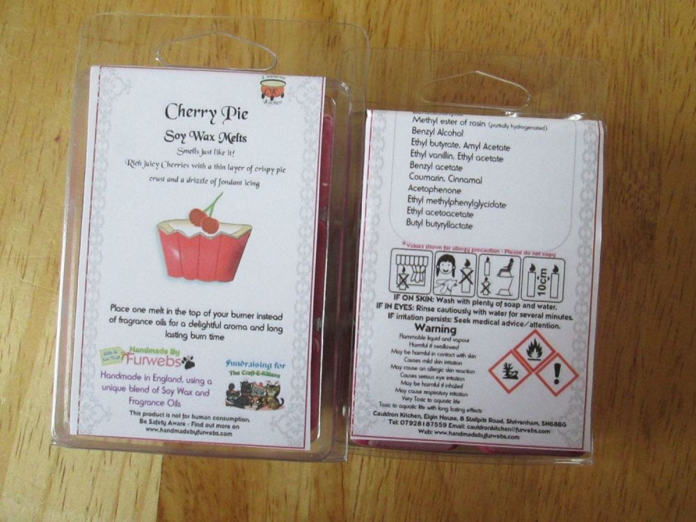 Cherry Pie Scented Soy Wax Melts Pack