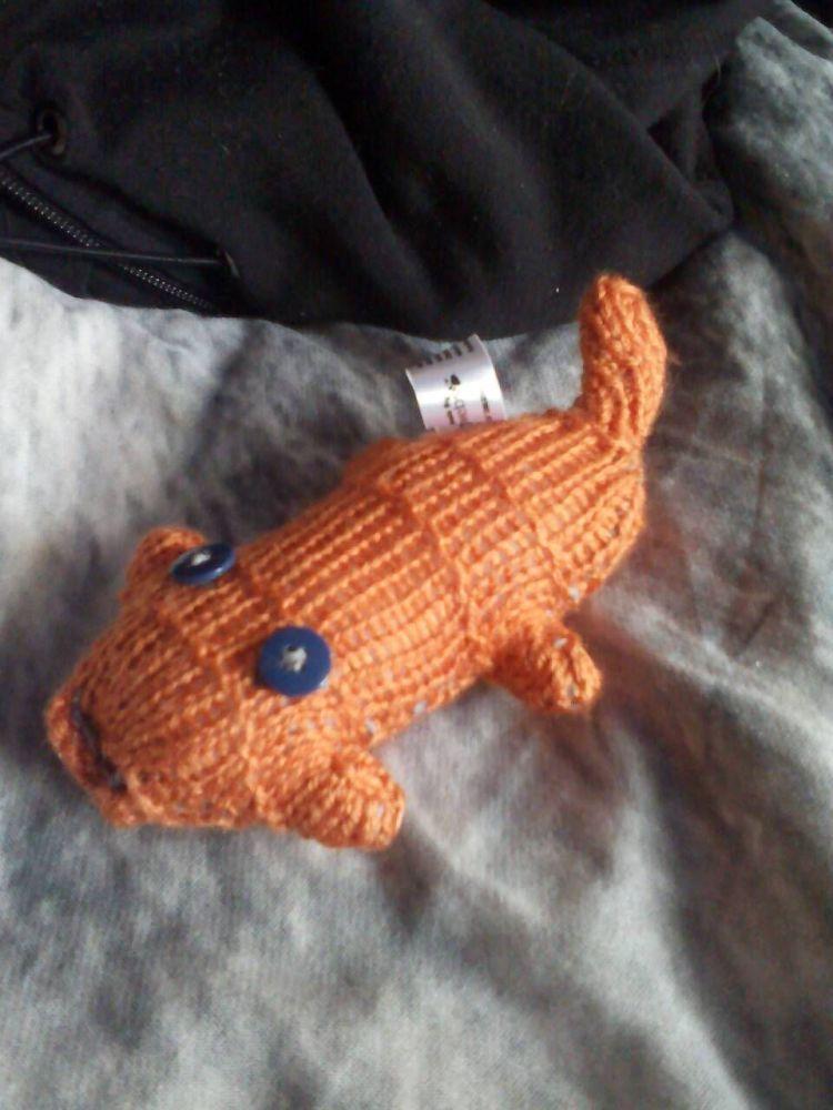 Orange Body with Blue Eyes Mini Scuttle