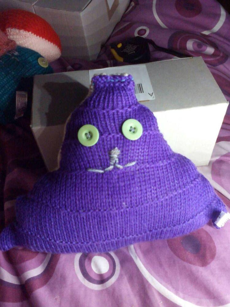 Purple and Lemon with Green Eyes Midi Terri