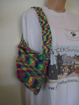 Rainbow Knitted Bag. Knitted By KittyMumma