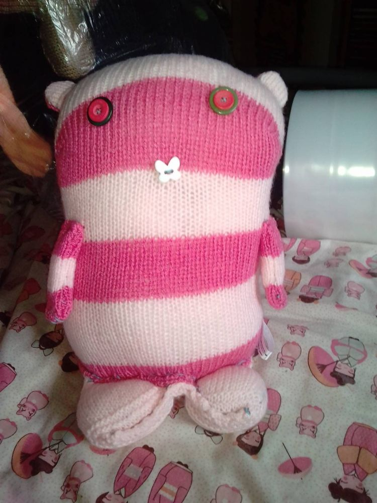 Pinks Striped Giant Cat