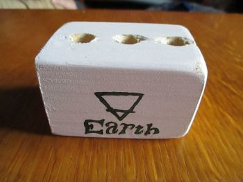 Green Earth Symbol 3 Hole White Stationery Block