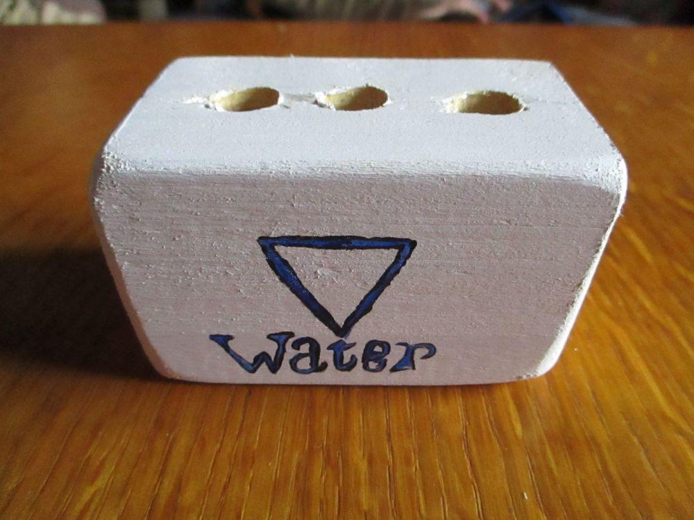 Blue Water Symbol 3 Hole White Stationery Block