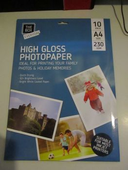 10pk High Gloss A4 230GSM Photopaper