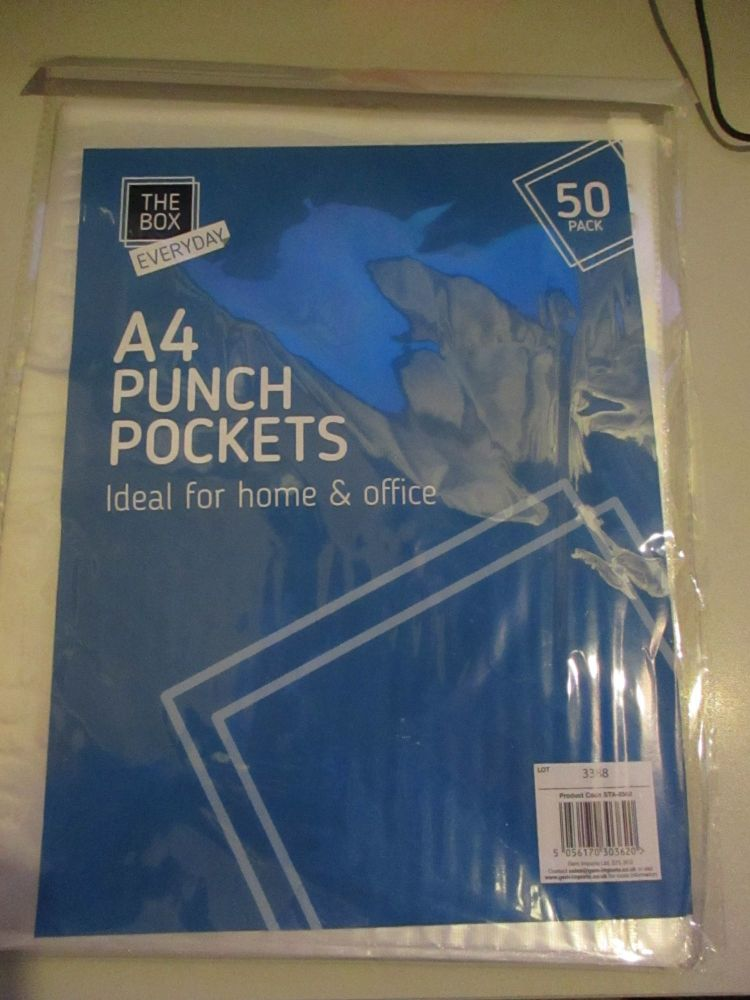 50pk A4 Punch Pockets