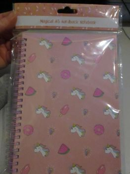 Pink Unicorn Watermelon Magical A5 Hardback Spiral Bound Notebook