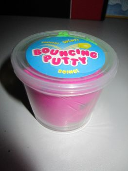 Green Fuschia Bouncing Putty Pocket Money Toy