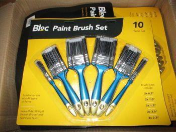 10pk Bloc Paint Brush Set