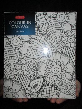 Geometric Flowers - Impression - Colour In Canvas 25cm x 30cm