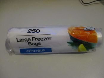 250 Large Freezer Bags Extra Value - Tidyz