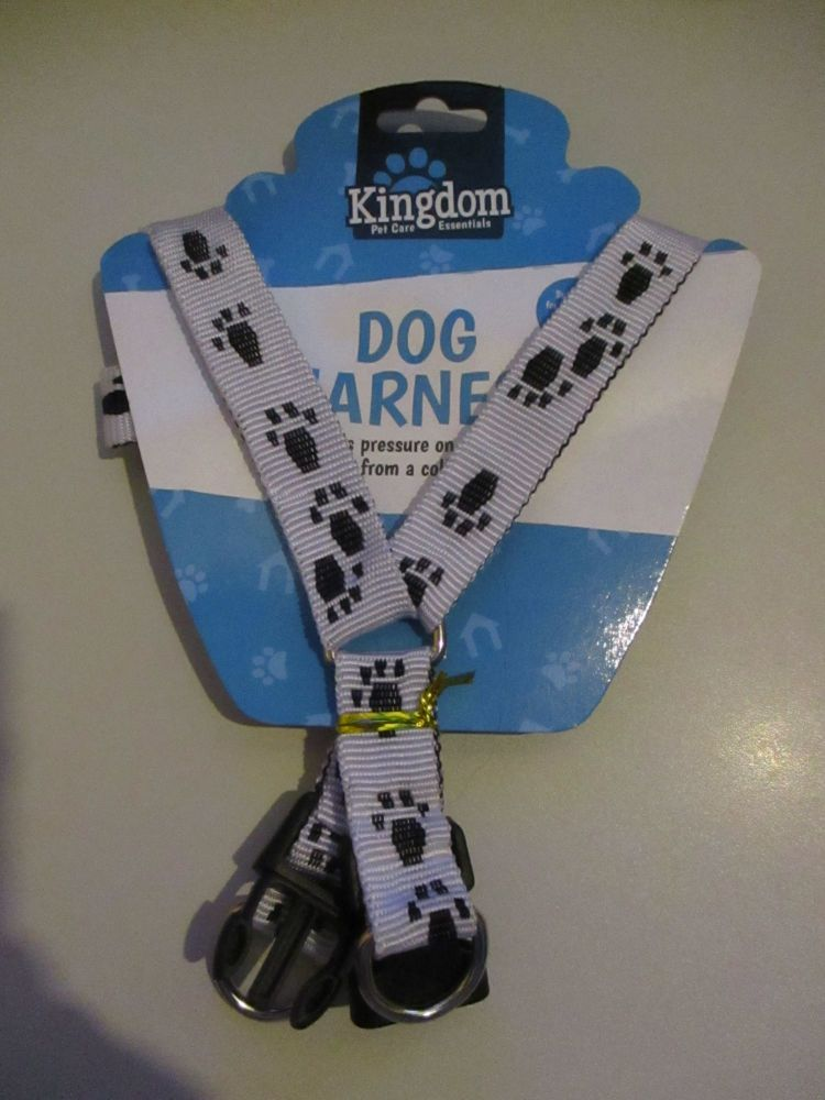 10Kg White Dog Harness - Kingdom