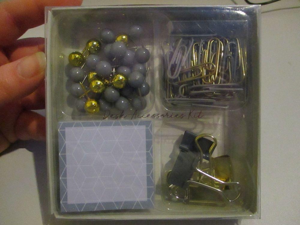 Grey - Desk Accessories Kit