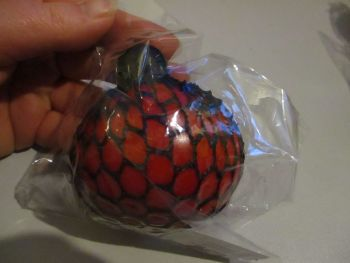 Red Squishy Mesh Ball Pocket Money Toy