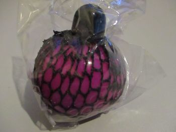 Fuschia Squishy Mesh Ball Pocket Money Toy