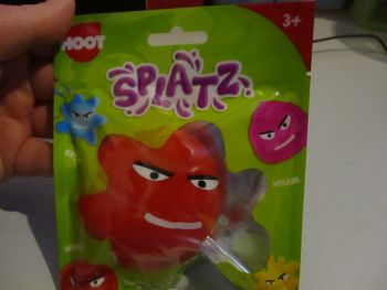 Red Splatz Face Ball Pocket Money Toy