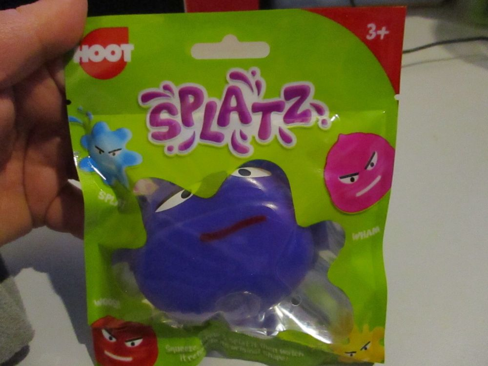 Purple Splatz Face Ball Pocket Money Toy