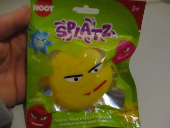 Yellow Splatz Face Ball Pocket Money Toy
