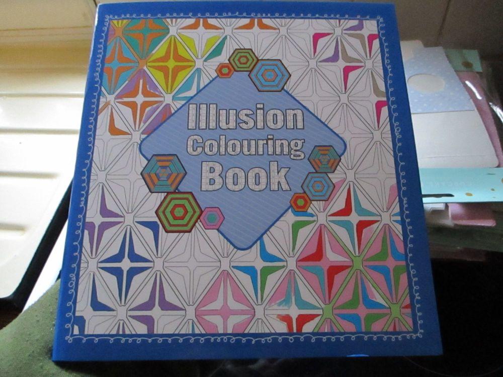 Illusion Colouring Book 32pg (Blue Square)