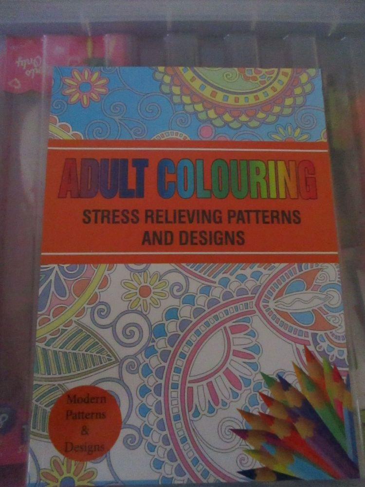 Orange - Adult Colouring - Modern Patterns and Designs 24pg Colouring Book