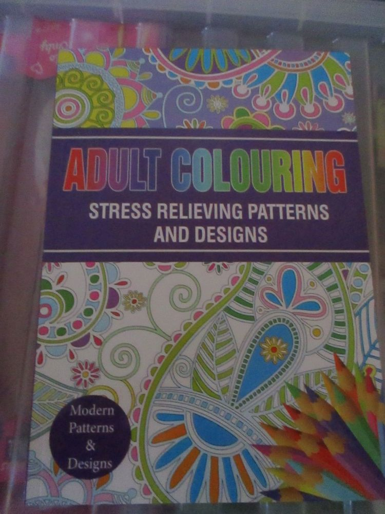 Purple - Adult Colouring - Modern Patterns and Designs 24pg Colouring Book