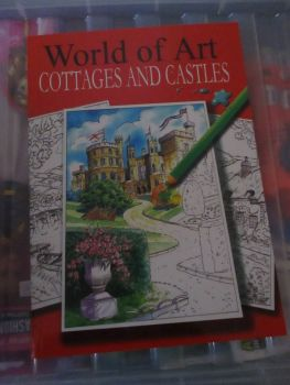 World of Art Cottages & Castles 24pg Colouring Book