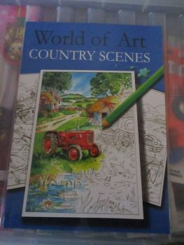 World of Art Country Scenes 24pg Colouring Book