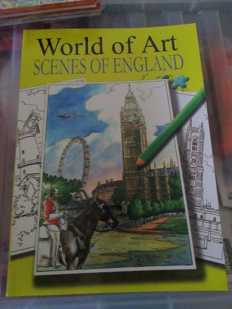 World of Art Scenes of England 24pg Colouring Book