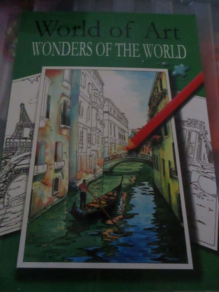 World of Art Wonders of the World 24pg Colouring Book